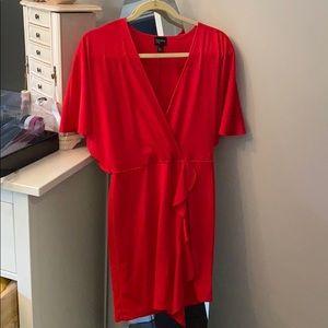 Red Free Press dress